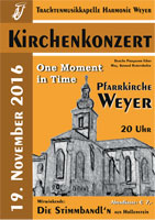 Kirchenkonzert am 19. November 2016